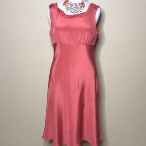 New J. Crew Coral Cocktail Dress size 16